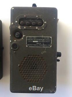 Vtg Seconde Guerre Mondiale Signal Corps Type Pe-157 Puissance Radio Supply Unit & Bc-148-c Paquet Amp
