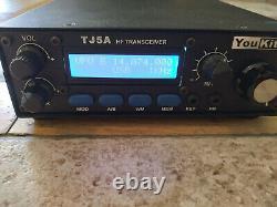 Youkits Tj5a Hf Transceiver (4-band Version) Avec Batterie Oem Et Alimentation 3 Ampères
